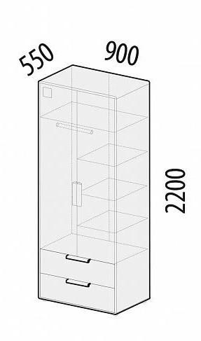 Шкаф для одежды Фристайл 56.01