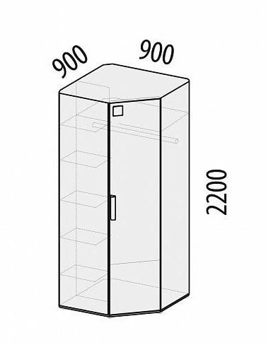 Шкаф для одежды угловой Фристайл 56.02