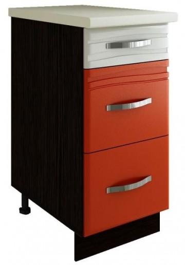 Стол с тремя ящиками (с системой плавного закрывания) Оранж 09.90