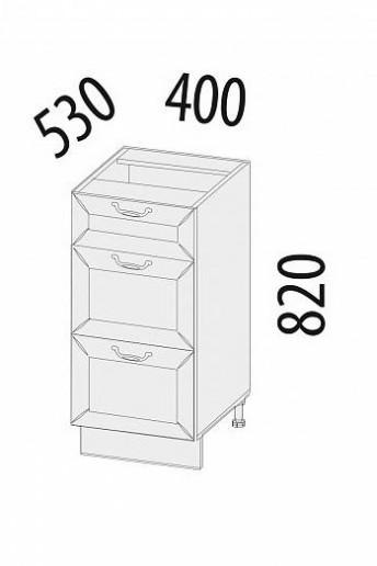 Стол с 3 ящиками (с системой плавного закрывания) Оливия 71.90