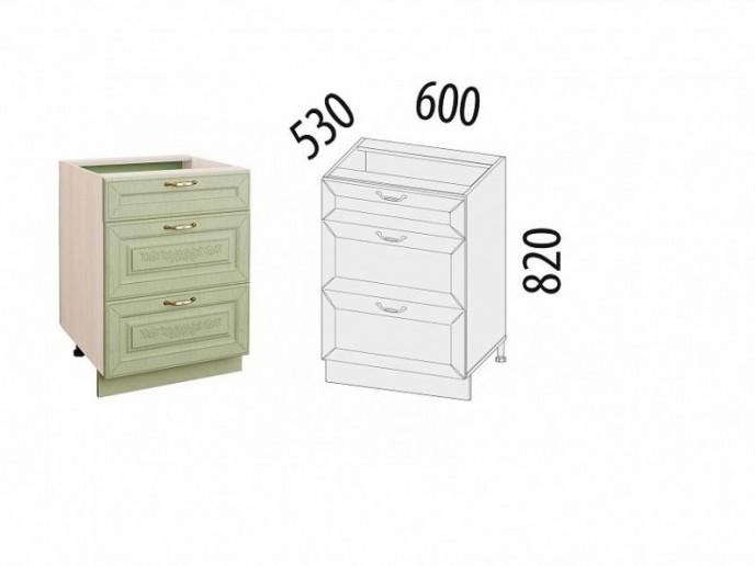 Стол с 3 ящиками (с системой плавного закрывания) Оливия 72.91