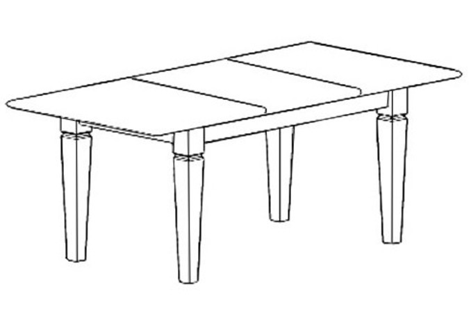 Стол обеденный ВАЙТ NO-006-2