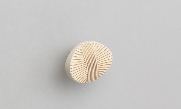 Ручка-кнопка FB023 золото прованс