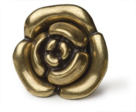 Ручка-кнопка Lulu Rose Старинная латунь