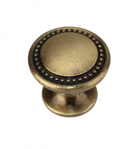 Ручка-кнопка RC053 Старинная латунь