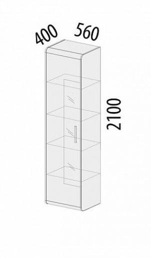 Шкаф-витрина большой лев/прав 65.06
