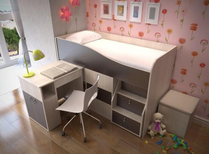 Кровать-чердак Мишка