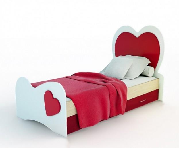 Кровать Сердце с ящиками