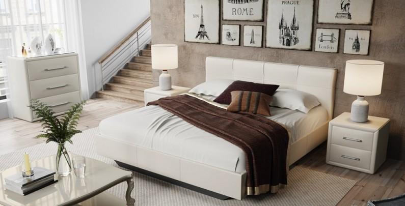 Кровать c мягкой обивкой Элис Тип 1