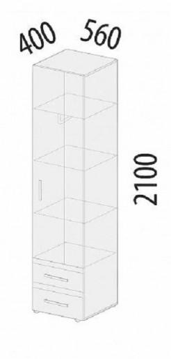 Шкаф для одежды лев/прав Фреска 66.16