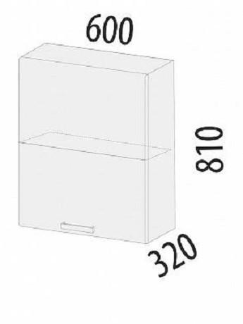 Шкаф Графит 74.98 с системой плавного закрывания