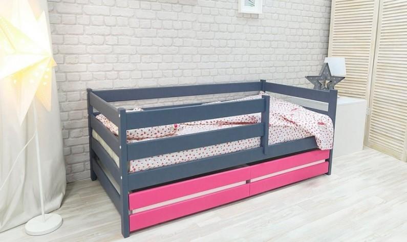 Кровать Сонечка. Манеж с ящиком, передним и задним бортиком Правый/Левый