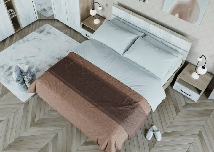 Кровать с основанием СП12 Ривьера