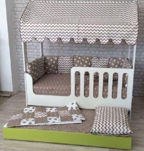 Кровать Домик со вторым выдвижным местом ЛДСП