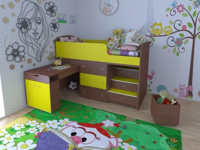 Кровать-чердак Малыш 1800