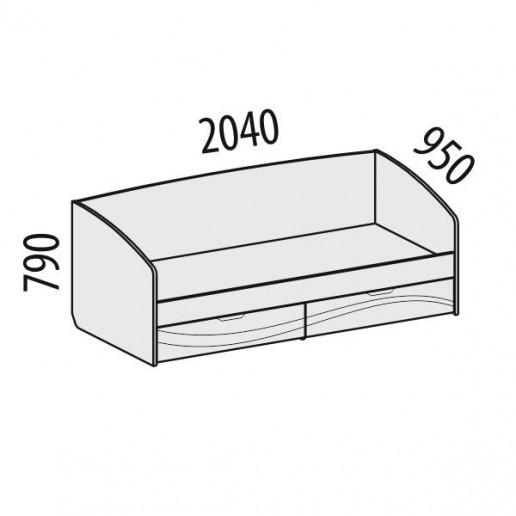 Кровать Соната 98.05