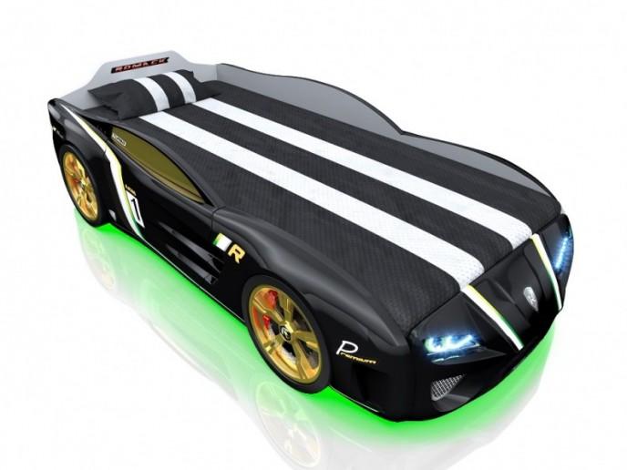 Кровать-машина SPORTLINE черная