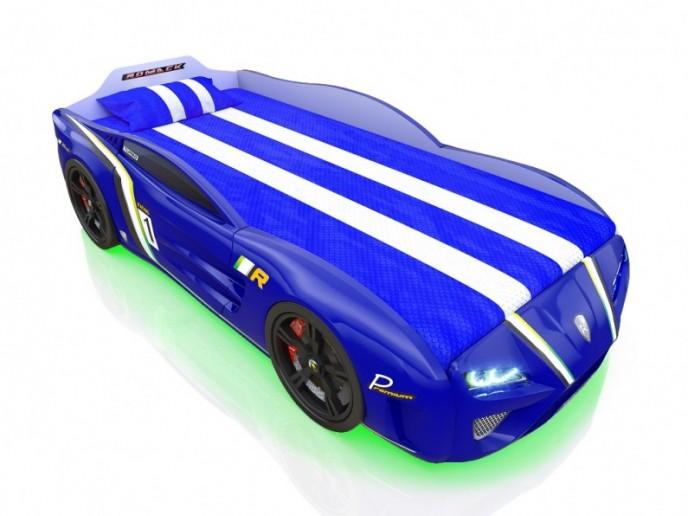 Кровать-машина SPORTLINE синяя