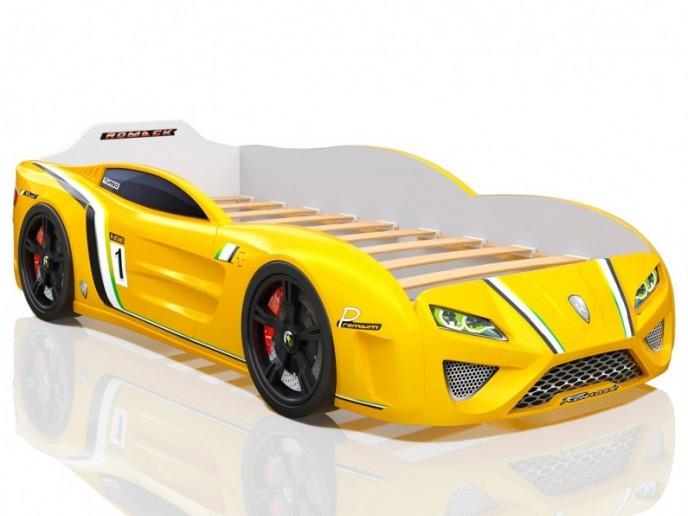 Кровать-машина SPORTLINE желтая