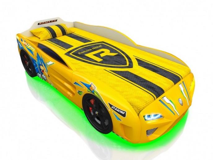 Кровать-машина DREAMER желтый Ёж