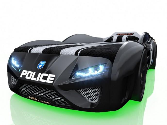 Кровать-машина DREAMER черный полиция