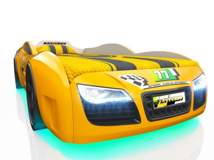 Кровать-машина R2 желтый