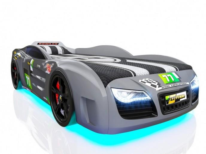 Кровать-машина R2 серый