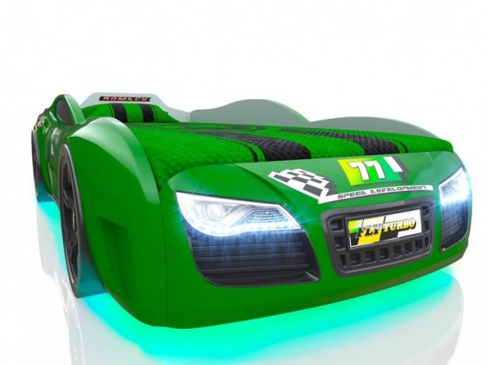 Кровать-машина R2 зеленый