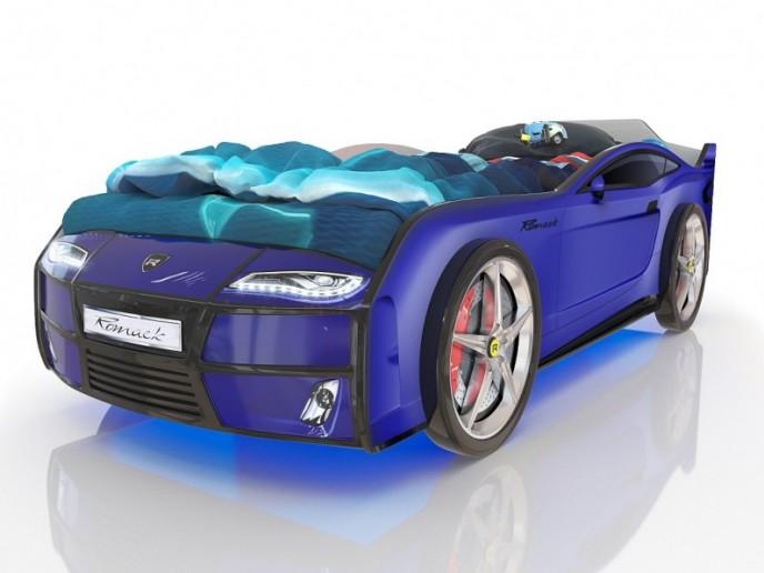 Кровать-машина  KIDDY синий