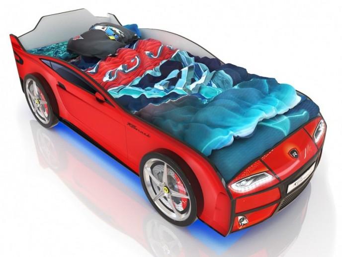 Кровать-машина  KIDDY красный