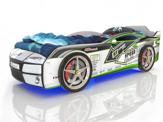 Кровать-машина  KIDDY белый спорт 1