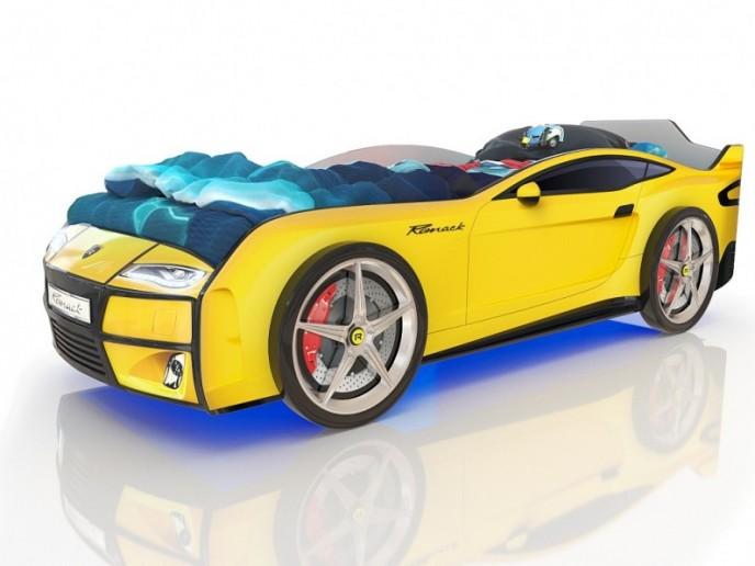 Кровать-машина  KIDDY желтый