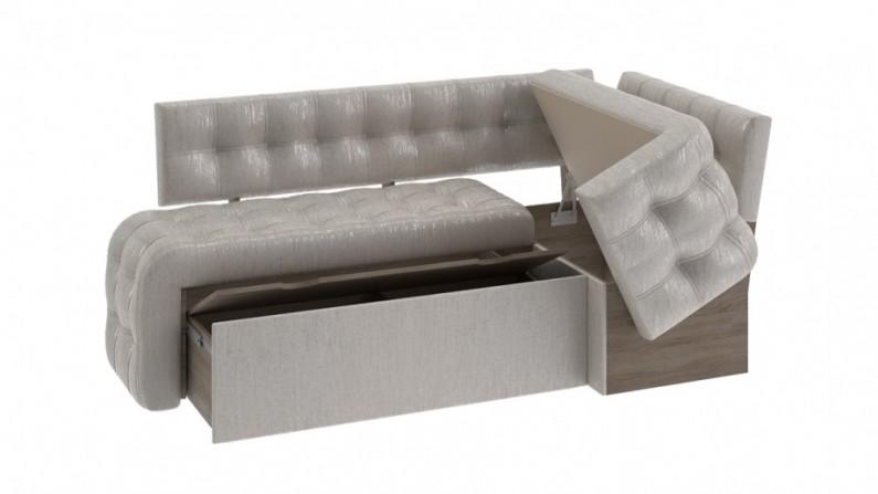 Скамья угловая со спальным местом Манчестер серый