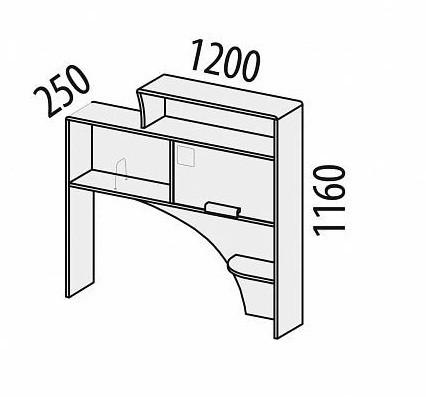 Надстройка Фристайл 56.24 для стола 56.15