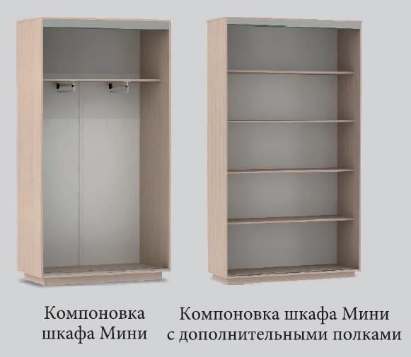 Шкаф-купе Мини Венге/Дуб Молочный
