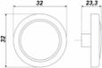 Ручка-кнопка RC052 Старинная латунь